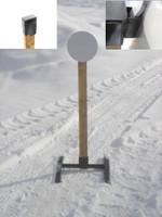 "Hanging Steel Challenge Target w/base- 12"" Dia. 3/8"" AR500 Steel Plate"