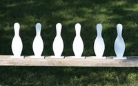 "8"" Bowling Pin K'Over - 6 Pc. Set 3/8"" Thick Ar500 Steel - Free Shipping"