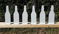 "Soda Bottle set of six - 3/8"" thick AR500 - Free Shipping"