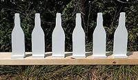 "Soda Bottle set of six - 3/8"" thick AR500 - Free Shipping"