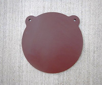 Hardox AR500 - Bear Ear Gong - Armour Steel Plate Unpainted (FREE SHIPPING!)
