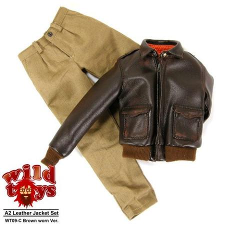 Wild Toys - A2 Leather Jacket Set (Worn Brown)