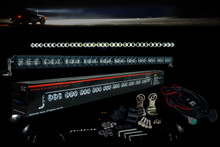 "HD Series 50"" OZ-USA® 330w High Output LED Halo Rings Advance Optic Anti-Glare Lens single Row Light bar Off Road Fog"