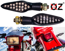 Motorcycle Turn Signal Amber LED Light Dual Intensity Smoke Lens 12 Volts Universal Blinker