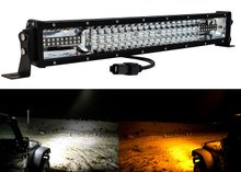 "DL-Series 20"" Amber White Dual Color Changing LED Light bar Harness Anti-theft Security Bolt Flashing Emergency Driving Fog Spot Light Offroad SUV Truck Marine Agricultural and Heavy Equipment 12 - 32 Volts"