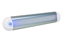 "12"" LED Dome Light Dimmer 3-Way Touch Sensor Lighting Fixture Marine RV Motorhome Camper Utility Van 12v 24v Semi Truck travel Trailer boat aircraft overland Interior Exterior cabinet waterproof"