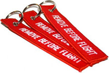 3 Remove Before Flight Key Chain Aviation ATV UTV Motorcycle Pilot Crew Tag Lock
