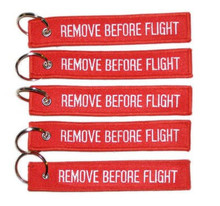 5x Remove Before Flight Key Chain Aviation Truck Motorcycle Pilot Crew Tag Boat