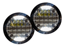 OZ-USA® 4D JEEP HEADLIGHT (PAIR) 75w LED H4 H13 DRL HI/LO DUAL BEAM JK tj cj hummer h1 h2