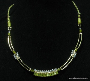 Indian Jewelry -Green Emerald Set