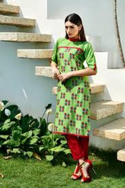 2015 Pakistani Long Kurti - GreenCheckers