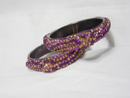Stone Bangles - Purple D18 (Double)