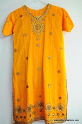 Mustard Designer Churidar Suit