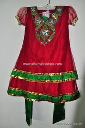 Latest Design Red Girls Churidar Set Size 28