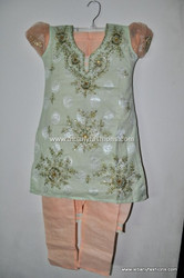 Light Green Girls Churidar Set Size 28
