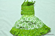 Green Flower Cotton Dress Size 18