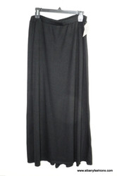black stretch long skirt size 10
