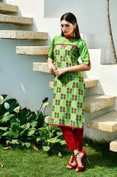 2015 Pakistani Long Kurti - GreenCheckers