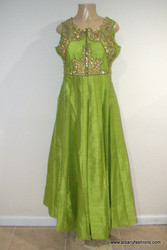 2000 Anarkali Churidar Suit-GreenShiny