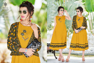 Orange POONAM BIBA RAYON SUMMER COLLECTION Kurti