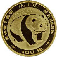 1983 Panda 100 Yuan 1 oz Gold NGC MS69