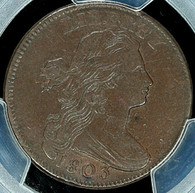 1803 Draped Bust Large Cent Small Date, Large Fraction PCGS XF40