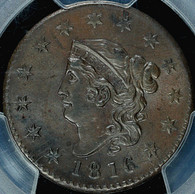 1816 Coronet Head Large Cent PCGS MS62 Brown
