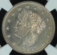 1883 No Cents Liberty Nickel NGC MS65