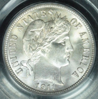 1911 Barber 10 Cent PCGS MS65