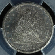 1875-S Twenty Cent PCGS MS63 CAC Approved