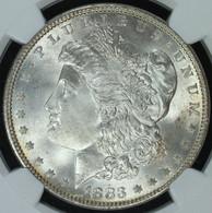 1883 Morgan S$1 NGC MS66