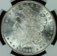 1885-CC Morgan S$1 GSA Hoard NGC MS65
