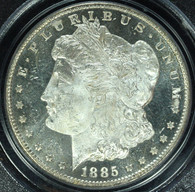 1885-CC Morgan S$1 PCGS MS65 Deep Mirror Prooflike