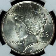 1926 Peace S$1 NGC MS65
