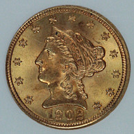 1902 $2.50 Gold Liberty NGC MS65 CAC Approved
