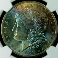 1881-O Morgan Silver Dollar NGC MS65 TONED