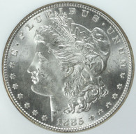1885 Morgan Silver Dollar - NGC MS66