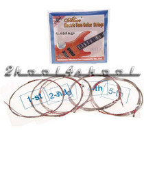 5 string electric bass strings round wound five medium