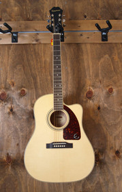 Gibson Epiphone Solid Spruce AJ-220SCE Acoustic-Electric Cutaway Guitar w Shadow