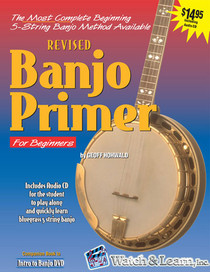 Banjo Primer Book and CD Beginner Instruction Music Lessons Watch and Learn