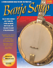 Banjo Songs book w 2 CD's Bluegrass Instruction Lessons Watch and Learn