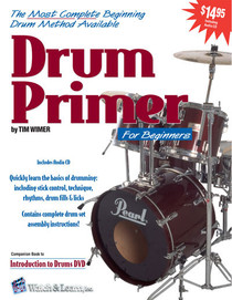 Beginning Drum Primer Book CD Percussion Instruction Lessons Watch and Learn