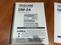 Tascam DM24 DM-24 User Manual Set 3 books 200 pages total