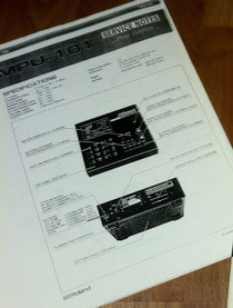Roland MPU-101 MPU101 MIDI to CV interface Service Manual Parts List Diagram etc