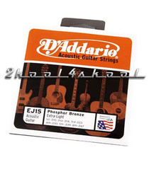 D'Addario Acoustic Guitar Strings Phosphor Bronze Light