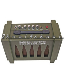 Ammo Box Guitar Practice Amp-10w bullet case amplifier