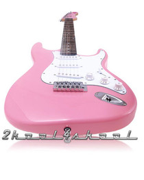 PINK electric Guitar set HEART gig bag pack Strat Style
