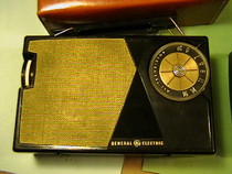 Vintage General Electric Transistor Radio Art Deco design