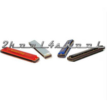 Harmonica(s) SET OF 4 colors Key-C 24 hole NEW!