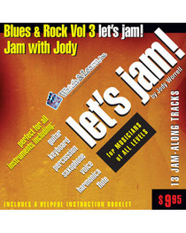 Let's Jam! CD Blues Rock Guitar Backing Tracks Vol 3 Watch and Learn